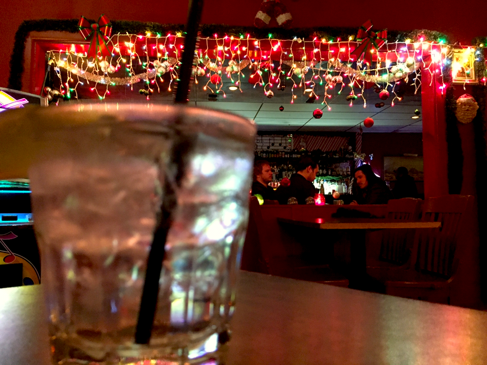 a christmas drink at a christmas bar - Year Round Christmas Lights
